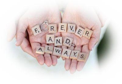 これから永遠にいつも一緒に人生を歩む