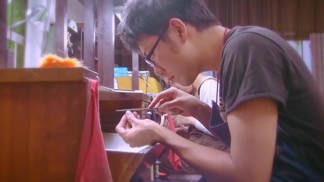 手作り結婚指輪月の原型制作