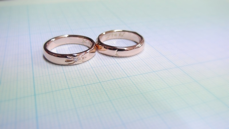 K18PG手作り結婚指輪