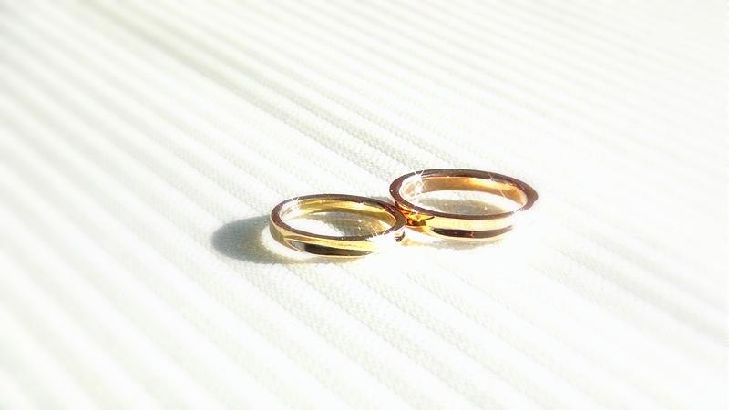 K18手作り結婚指輪
