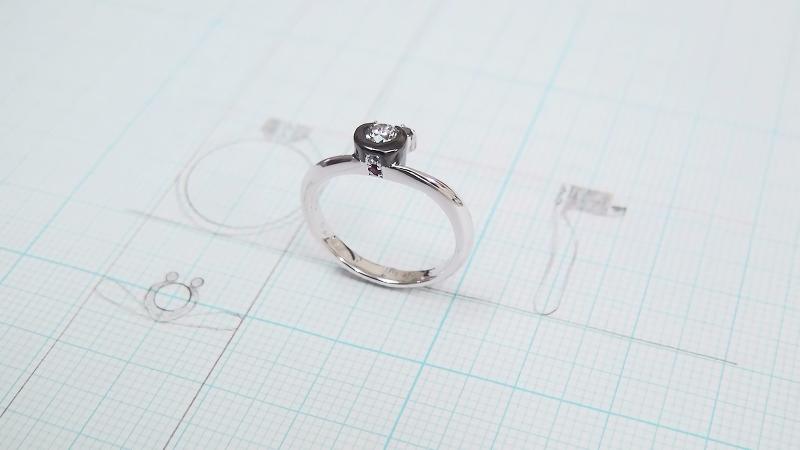 パンダをモチーフにした婚約指輪