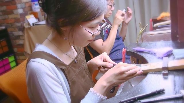 手作り結婚指輪太陽の原型制作