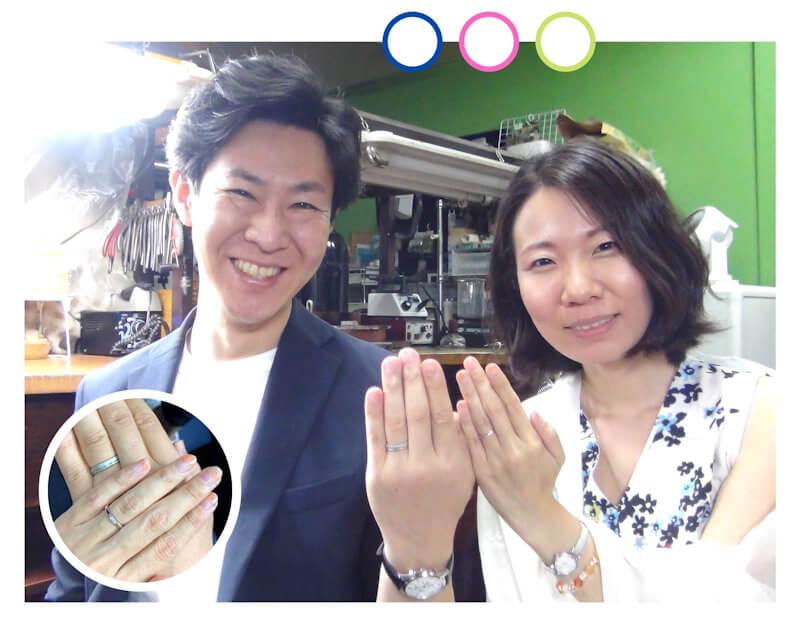 自分たちで手作りした結婚指輪