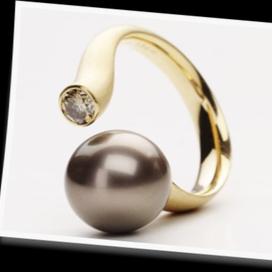 黒蝶真珠のリング