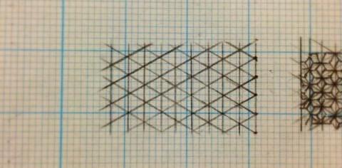 麻の葉の書き方