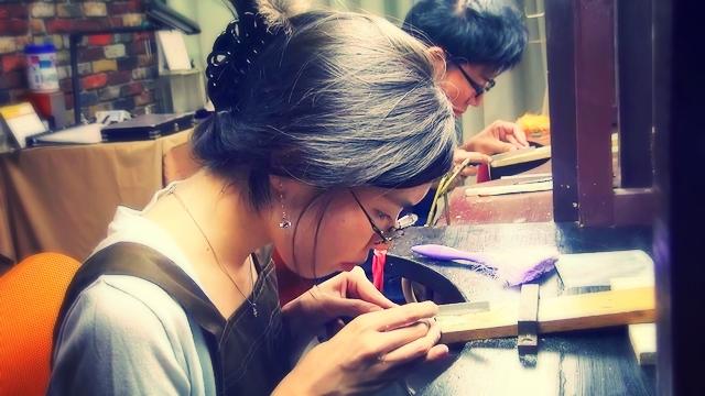 手作りマリッジリング太陽の原型制作
