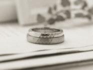 麻の葉デザインの結婚指輪