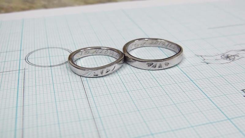 7つ葉クローバー手作り結婚指輪
