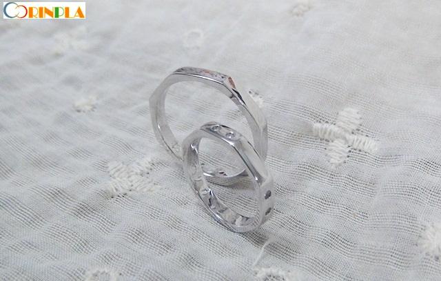 風水縁起が良い8角型手作り結婚指輪