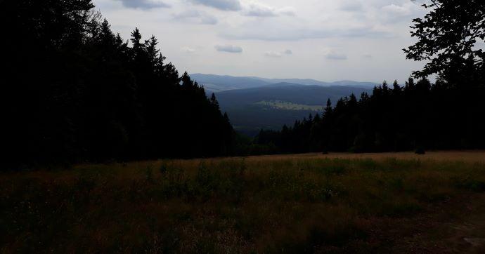 Blick von Ebene bei Böhmerwaldturm