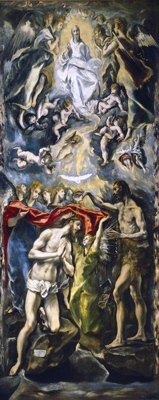 Крещение Христа - Эль Греко