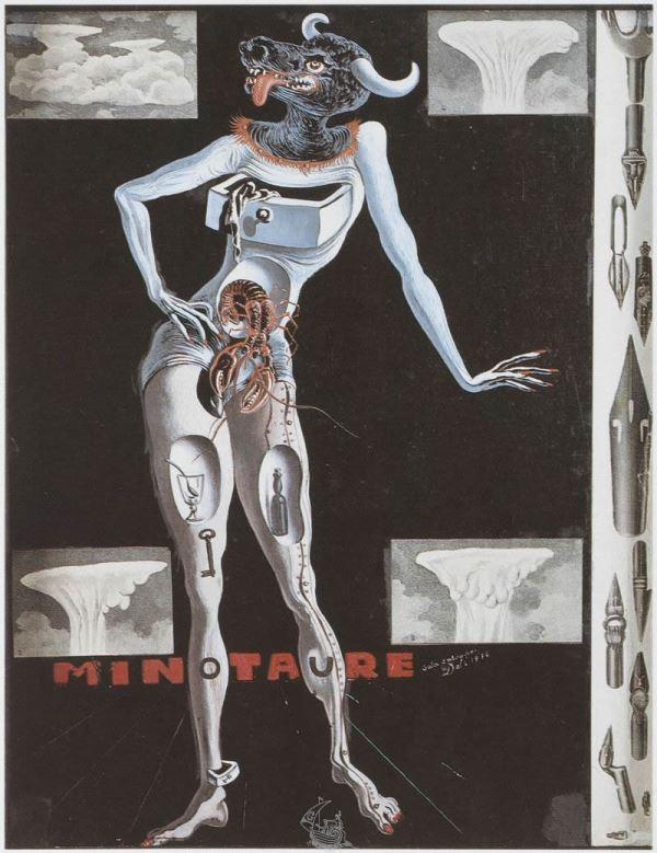 """Обложка для """"Минотавра"""" - Сальвадор Дали (1936)"""