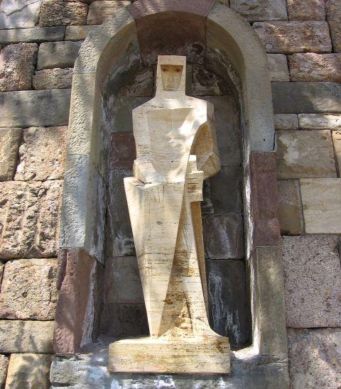 Скульптура Святого Георгия в монастыре Монсеррат
