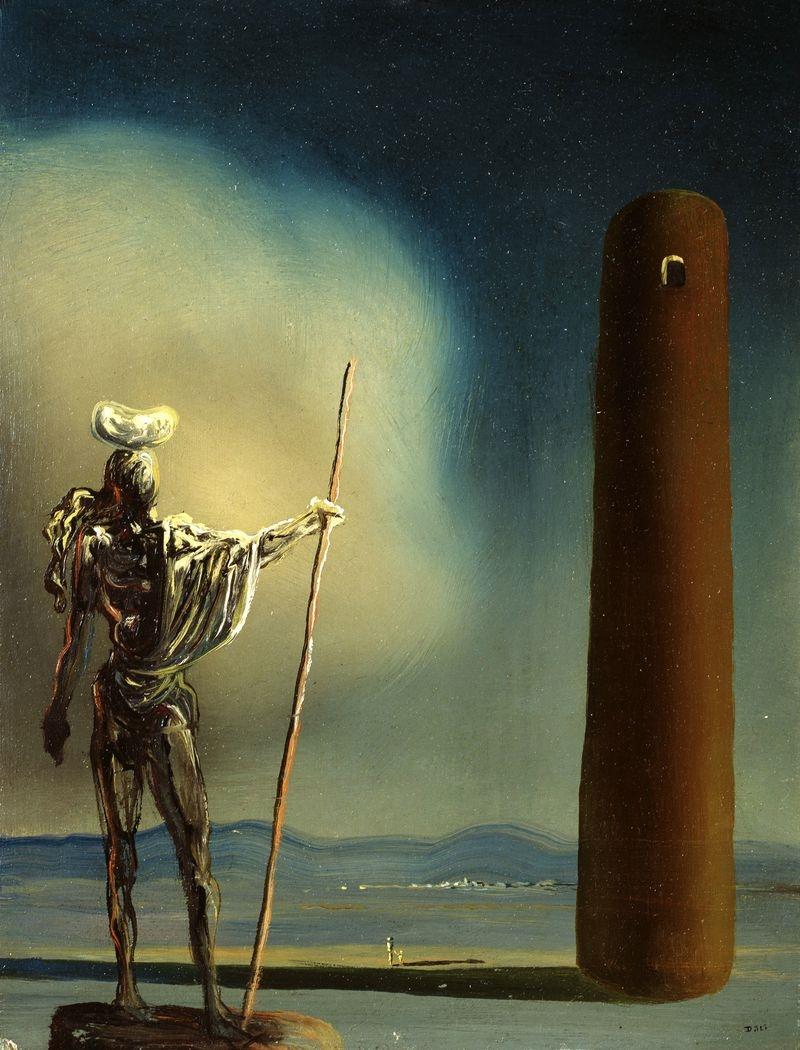 Рыцарь у башни - Сальвадор Дали