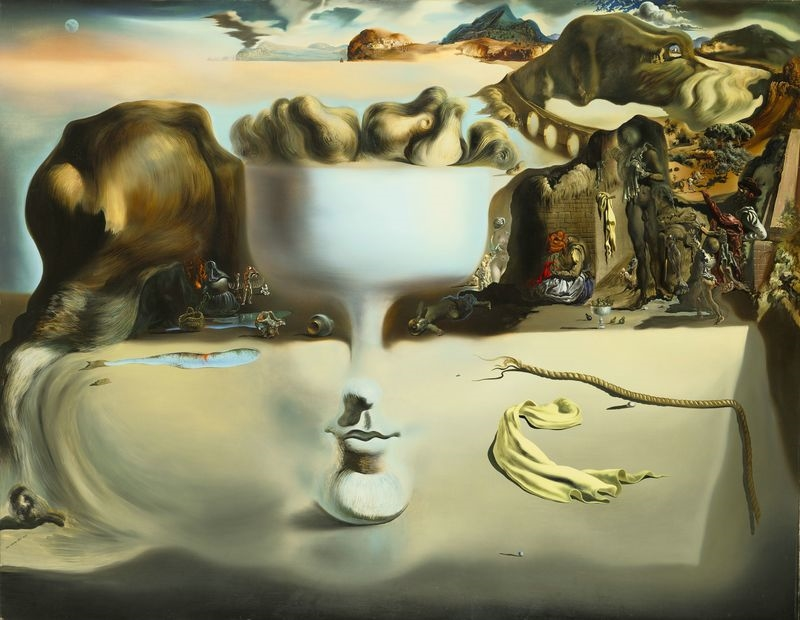 Apparition of Face and Fruit Dish on a Beach - Salvador Dali