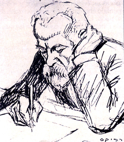 Антонио Гауди - рисунок Рикарда Описсо