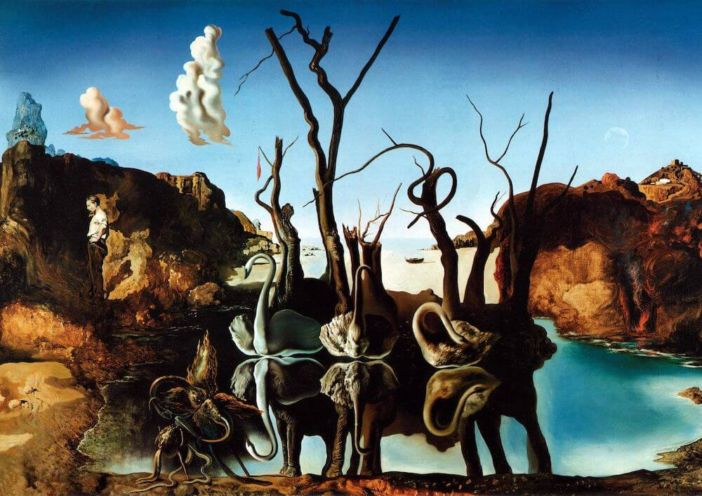 Swans Reflecting Elephants - Salvador Dali