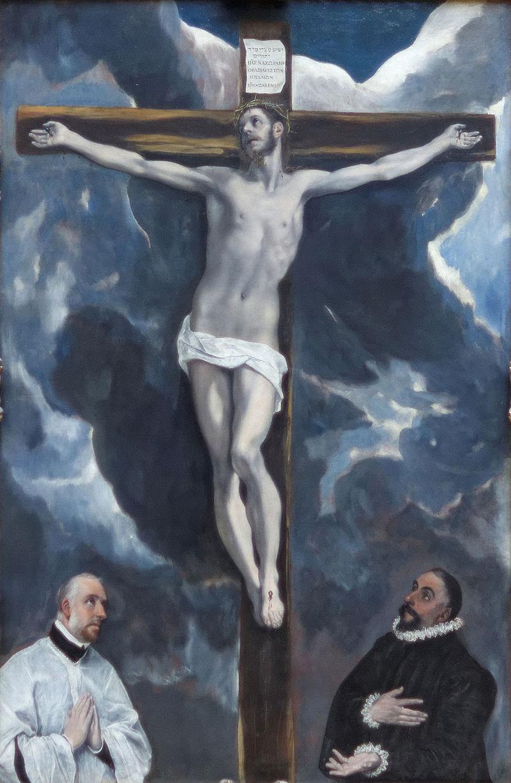 Распятие с двумя донаторами - Эль Греко