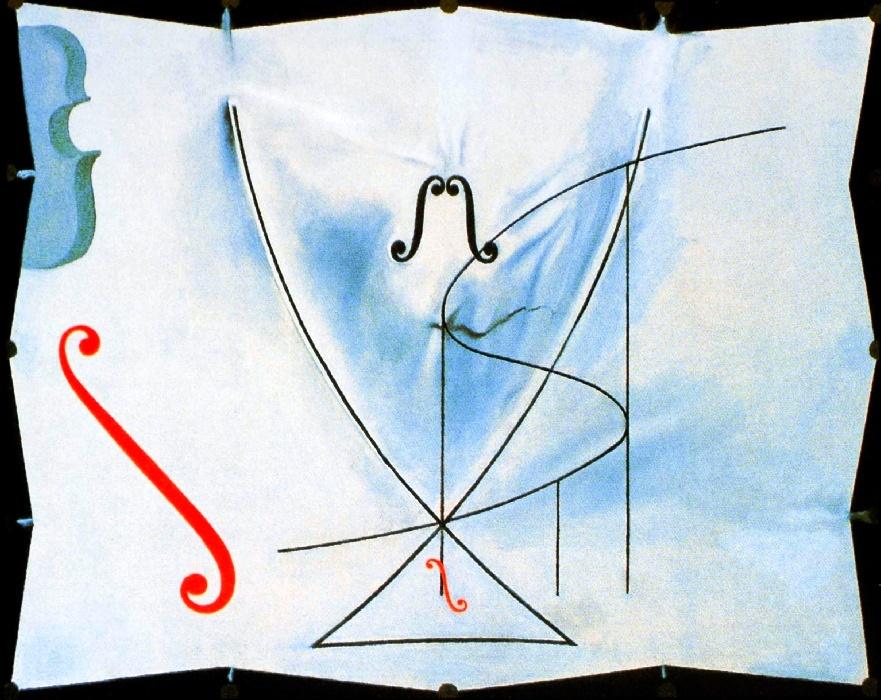 Хвост ласточки и виолончель - последняя картина Дали