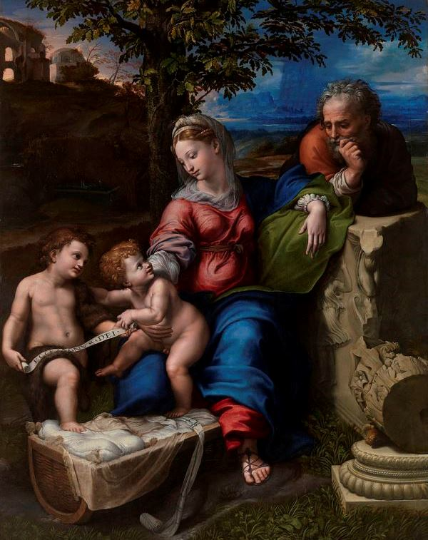 Святое Семейство под дубом - Рафаэль Санти