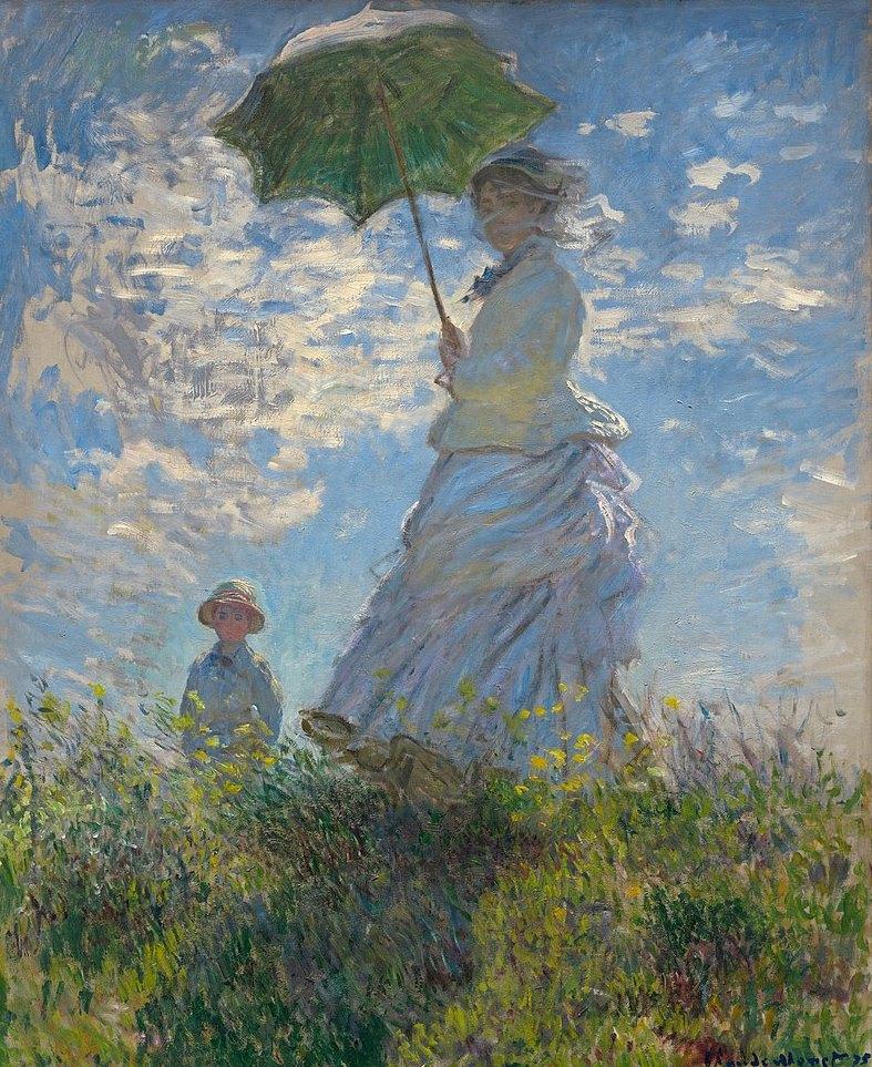 Прогулка. Дама с зонтиком - Клод Моне