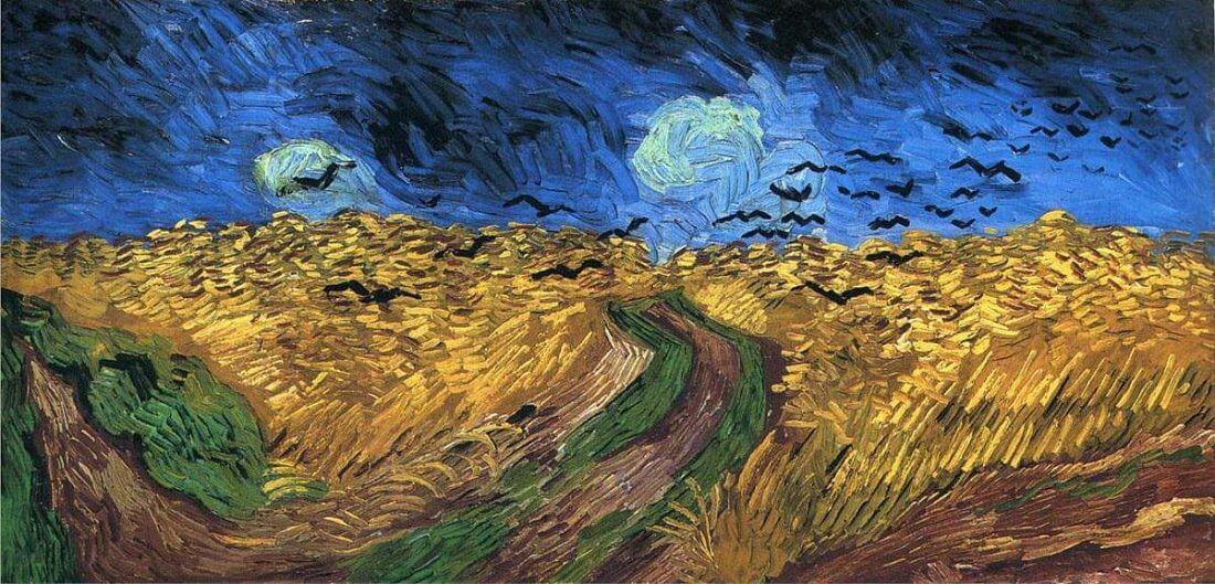Пшеничное поле с воронами - Винсент Ван Гог