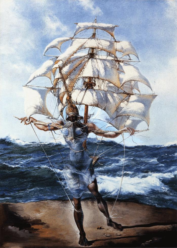 Корабль - Сальвадор Дали