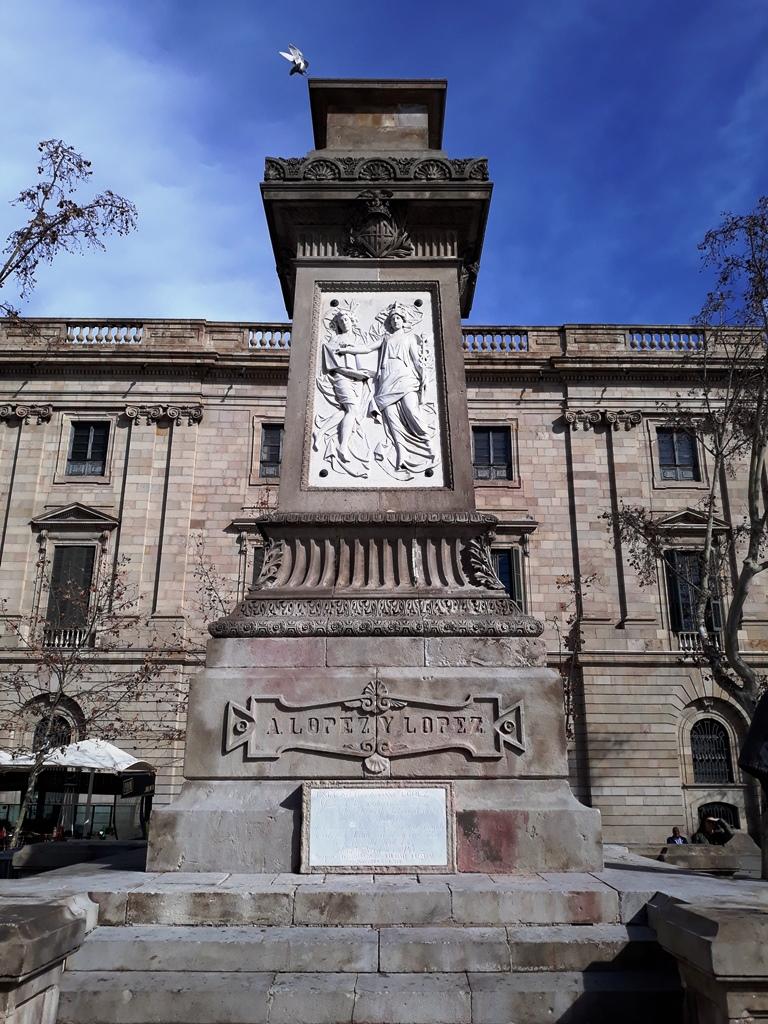 Памятник Антонио Лопесу в Барселоне