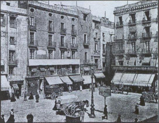 Площадь Ангела в Барселоне. Площади Барселоны