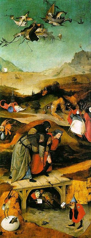 Искушение Святого Антония - левая створка