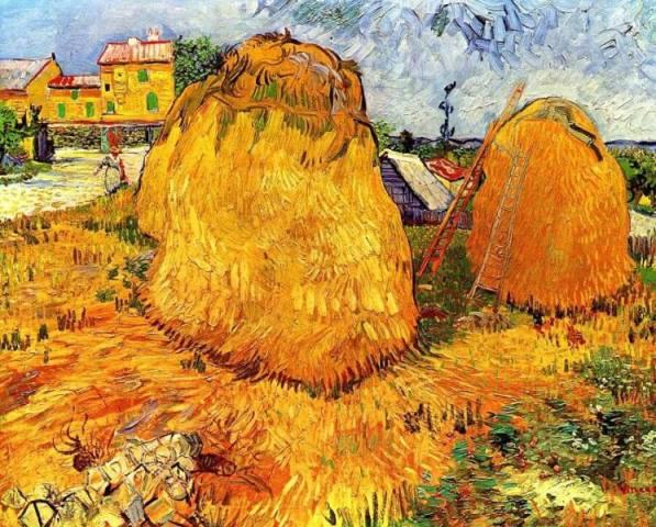 Стога в Провансе - Винсент Ван Гог