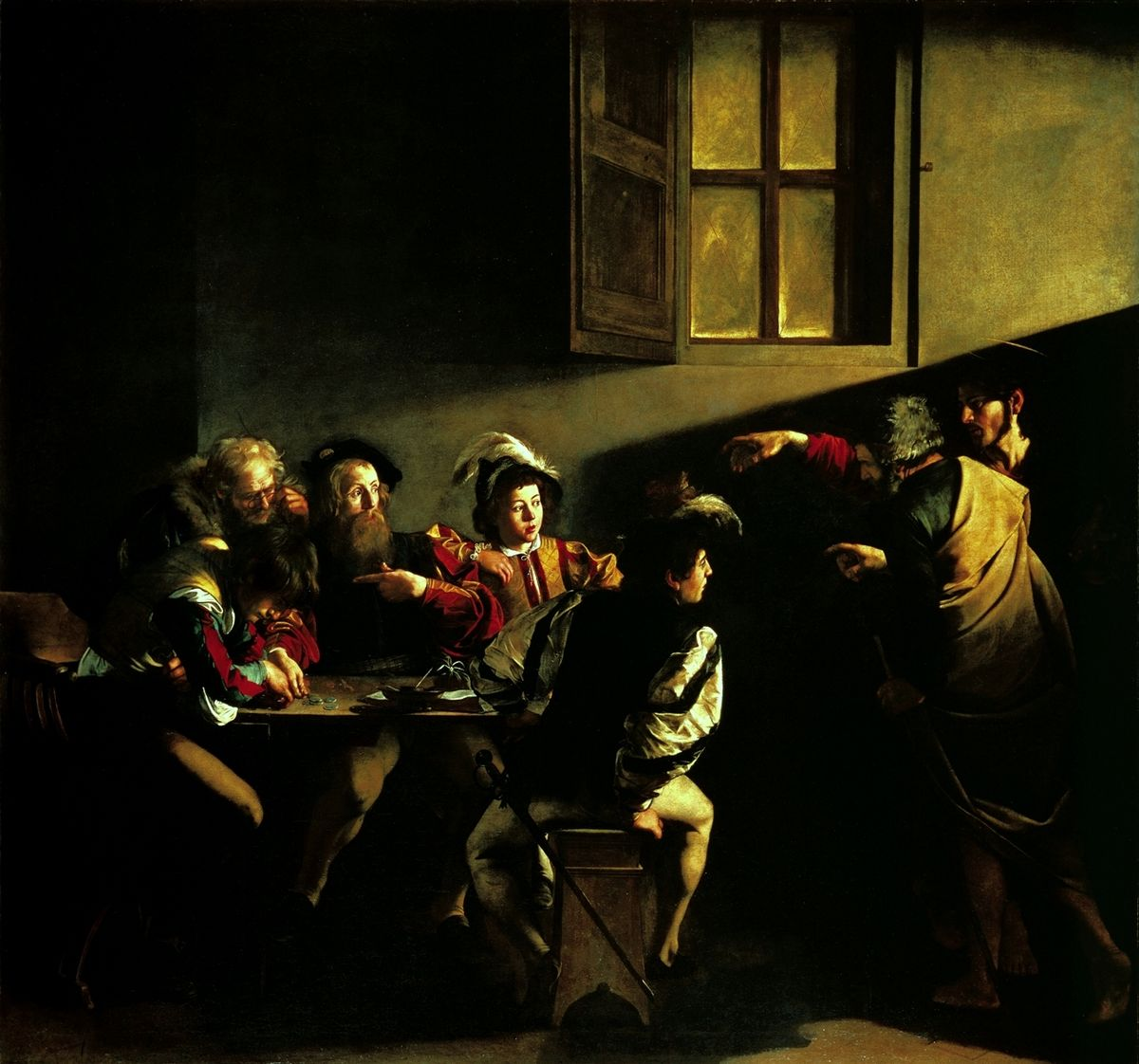 Призвание апостола Матфея  - Караваджо