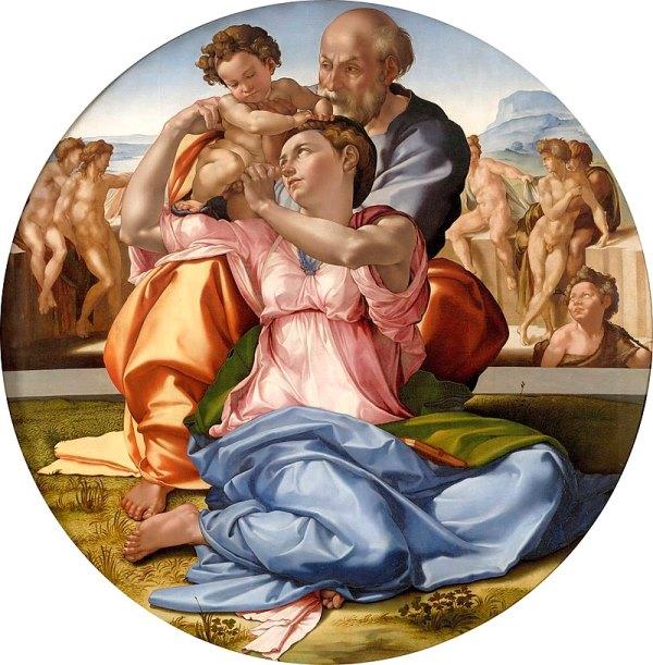 Мадонна Дони (Святое Семейство) - Микеланджело Буонарроти