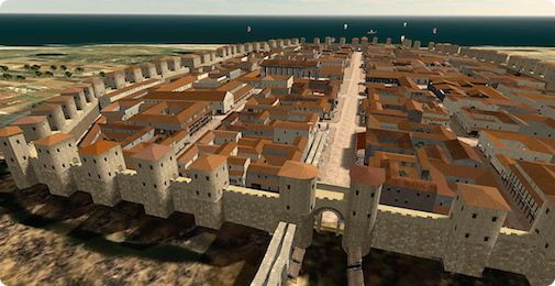 Римские стены Барселоны - певые оборонительные сооружения города