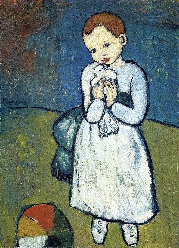 Ребенок с голубем - Пабло Пикассо