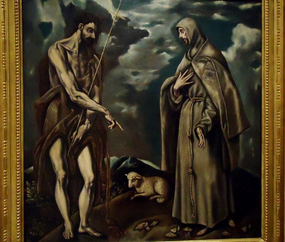 Святые Иоанн Креститель и Франциск Ассизский - Эль Греко