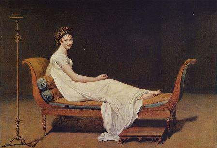 Жак Луи Давид - Портрет мадам Рекамье (1800)
