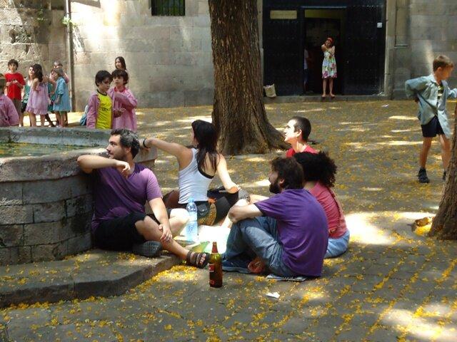 Площадь Сан Фелип Нери в Барселоне - трагедия места