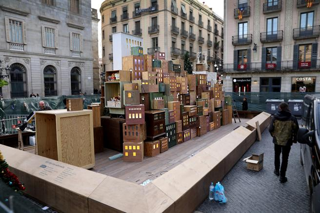 Вертеп в Барселоне 2019