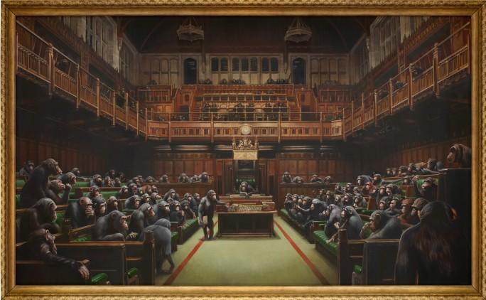 Опустившийся парламент - Бэнкси
