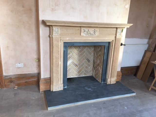 Herringbone Fireplace Chamber in Imperial London Stock