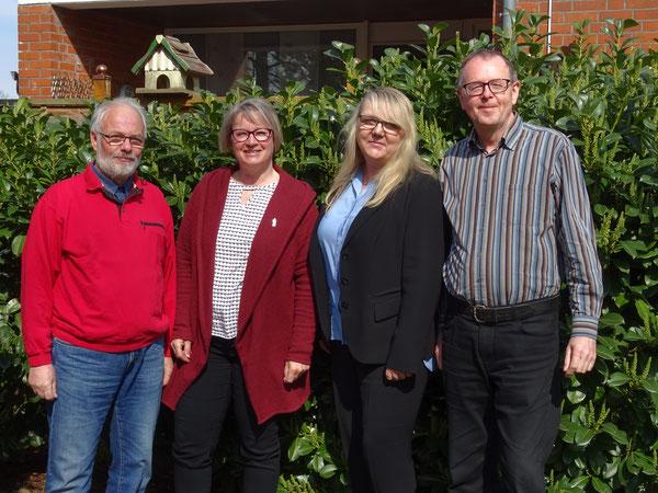 v.l.n.r.: Hans-Jürgen Umland, Karola Wehofsky, Anja Goldmann, Dieter Wehofsky