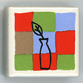 Shinzi Katoh シンジカトウ ピチタイル 花瓶 アルファベット