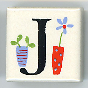 Shinzi Katoh シンジカトウ ピチタイル J アルファベット