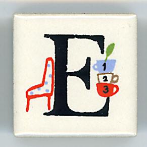 Shinzi Katoh シンジカトウ ピチタイル E アルファベット