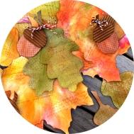 Dekoration - Herbstblätter aus Papier basteln - DIY