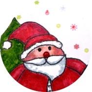 Weihnachten Weihnachtsgrußkarte Weihnachtsmann basteln DIY-Projekt