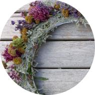 Dekoration - Sommerlicher Kräuterkranz - DIY
