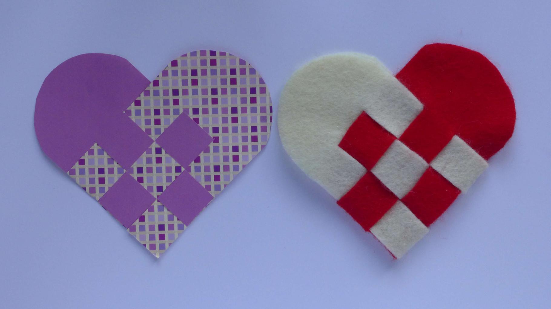 Valentinstag Geflochtenes Herz Aus Papier Und Filz Diy Projekt