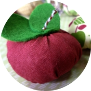 Dekoration - Äpfel aus Stoff nähen - DIY